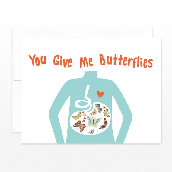 Funny Valentine Card Love Card Anniversary Card Butterfly