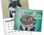 Business Cats Wall Calendar 2016