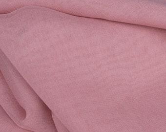 "Pink 100% Silk Chiffon - 45"" Wide - 1 Yard (FABSC-PK)"