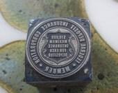 Federal Deposit Insurance Corporation Seal Vintage Letterpress Printers Block
