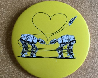 AT-AT Magnet - Yellow, Star Wars Magnet, Fridge Magnet, Refrigerator Magnets, Star Wars Gift, All Terrain Armored Transport, Star Wars Party