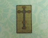 Dollhouse Miniature Medieval Cross Art Wall Panel
