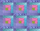 "Custom Made to Order Bright Ocean Turquoise, Lavender, Pink, Apple Green Quilt, 60"" x 80"""