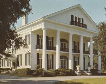 Vintage 1970s Postcard Franklin Louisiana Bayou Teche Oaklawn Manor Plantation Mansion Architecture Building Photochrome Era Postally Unused