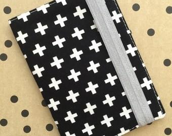 Black and White Passport Cover, Passport Case, Passport Cover, Passport Holder