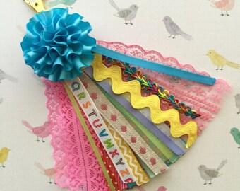Ribbon Planner Charm , Cute Bag Charm , Planner Tassel , Colorful Purse Charm , Keychain Charm , Ribbon Tassel