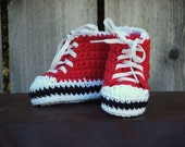 Red Sneaker Booties, size X-Small (3 month)
