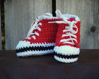 Red Sneaker Booties, size Small (6 month)