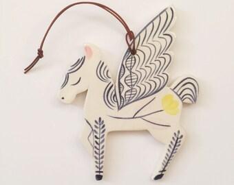 Wall Ornament || Ceramic Pegasus no. 4