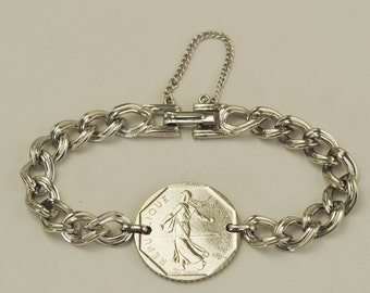 France Coin Bracelet 1981 The Sower
