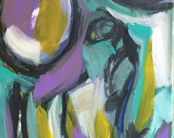 Abstract acrylic original painting, Fine art, Home Decor, Bold Stroke Expressionism