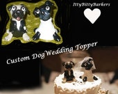 CUSTOM order Wedding Cake Topper Dog or Cat Bride and Groom Will Ship Everywhere