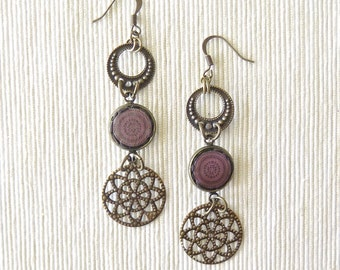 Moon Earrings - New Orleans Collection - by Loschy Designs