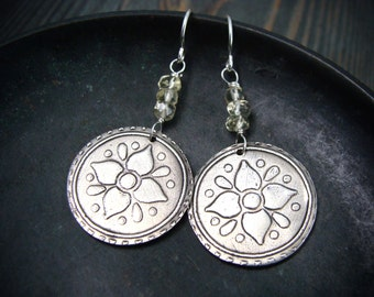 rustic perennial earrings