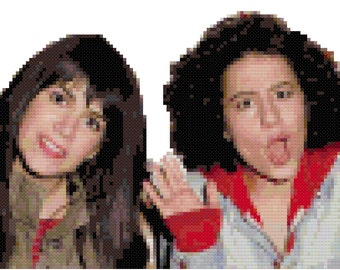 Broad City! cross-stitch portrait digital pattern