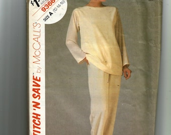 McCall's Misses' Tunic and Pants Pattern 9366