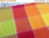 40% FLASH SALE- Color Block Fabric-Recycled Tablecloth Fabric-Rainbow Sherbet