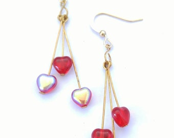 Red Heart Earrings