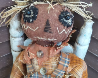 VERY Primitive, EXTREME Primitive, Scarecrow, Fall, Harvest, Spooky, Doll by Mustard Seed Originals