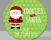 Cookies for Santa Love Us - Personalized Christmas Melamine Plate (Plastic)