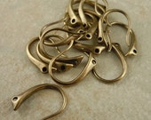 25% OFF Summer Sale Antique Brass Hook Ear Wires - 10 pcs (G - 5)
