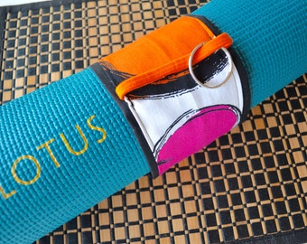 """Yoga lovers- """"Secret Stash"""" Yoga Mat Mate - Carry your yoga mat with style and ease- hidden inside zipper for all your cool stuff."""