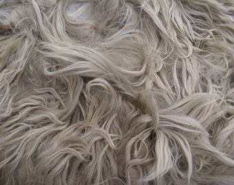 Alpaca Fleece - Spinning Fiber, Felting Fiber, Dreads, and Doll Hair - Raw, Suri, Unwashed Fleece - 9+ ounces