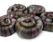 Punis Rolags Merino & Silk Tapestry Fine Merino Wool XL Spinning and Felting Fibre