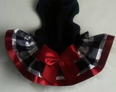 Black and White Color Block Check Dress Dog Dresses Dog Clothes Holiday dress