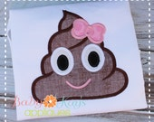 Chocolate Girl Emoji Applique Design 4x4, 5x7, 6x10, 8x8
