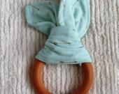 Aqua arrow teething ring
