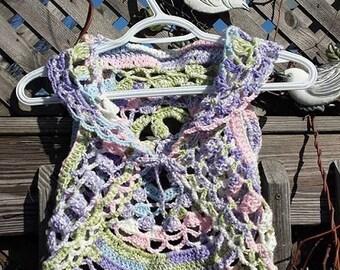 Crocheted Mandala Circle Vest for Child