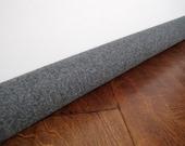 GRAY wool door draft stopper, custom length draft guard, Worldwide shipping