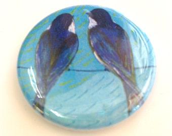 Swallows Button, 1.25 in, by Jenlo