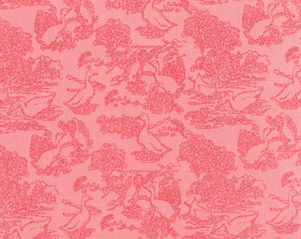 SALE - Gooseberry - Toile Waddle in Petal Pink: sku 5012-12 cotton quilting fabric by Lella Boutique for Moda Fabrics - 1 yard