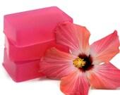 Hibiscus and Acai Soap, Hawaiian Soap, Glycerin Soap