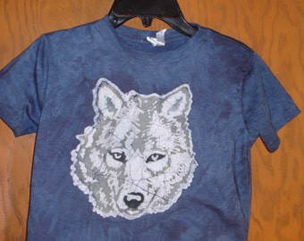 Kids Wolf Batik T-shirt
