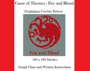 Game of Thrones - Fire and Blood - Graphghan Crochet Pattern