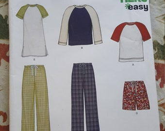 New Look Sewing Pattern 6404 His & Hers Pajamas