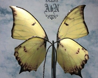 Fairy Wings - Yellow Butterfly wings 595 -  For OOAK Art Dolls