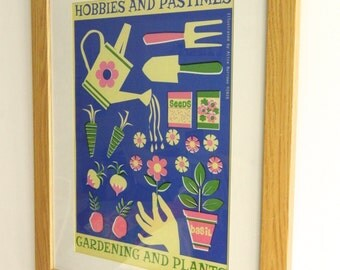 Retro Hobbies and Pastimes A3 Poster Print - Gardening and Plants