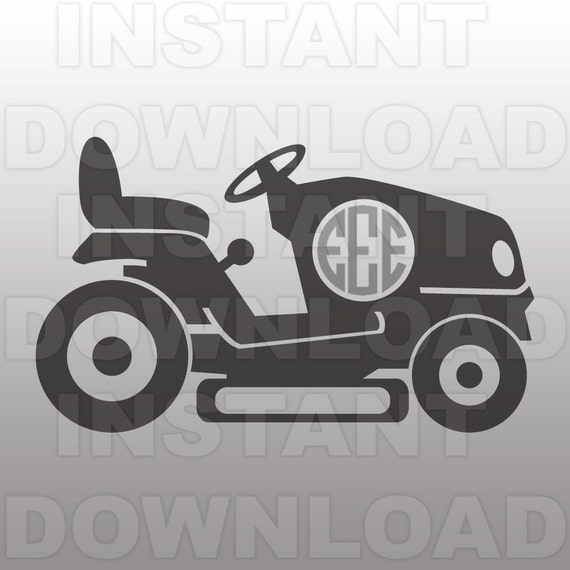 Riding Mower Monogram SVG FileLawn Mower SVG File-Cutting