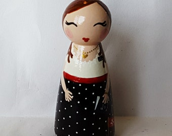 Hand Painted Love Boxes Custom LDS Missionary Peg Doll Wood