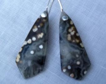 Ocean Jasper , sterling silver  earwire