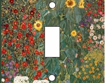 Klimt sunflower garden artwrok single toggle Light Switch Toggle