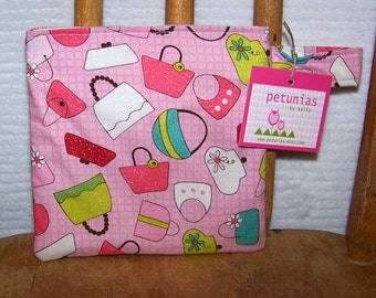 Reusable Little Snack Bag - pouch adults kids purses eco friendly by PETUNIAS