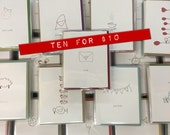 Ten for ten - letterpress greeting card spring cleaning sale!