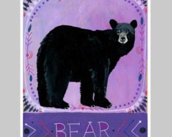 Animal Totem Print - Bear 2
