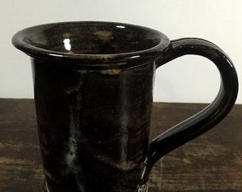 Brown Ceramic Mug Wheel Thrown Stoneware Pottery
