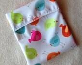 Bright Birds PUL Pad Wrapper / Mini Wet Bag